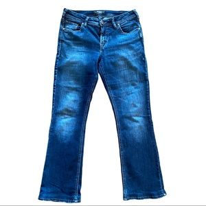 Silver Avery Slim Bootcut Jeans Size 30 (hemmed)